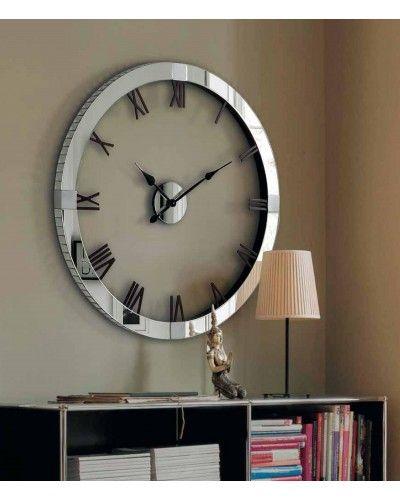 Reloj espejo pared redondo cristal 1362-5955