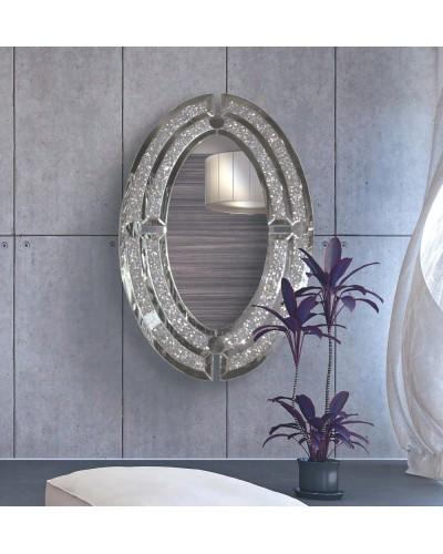 Espejo decorativo ovalado diseño 1362-3050