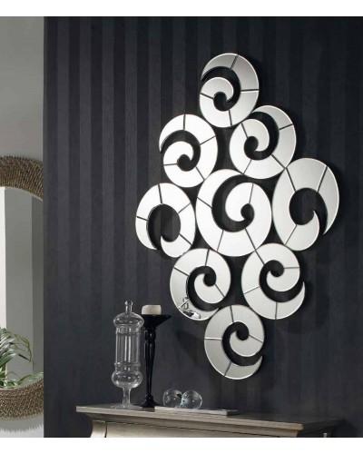 Espejo decorativo rombo espiral diseño 1362-457