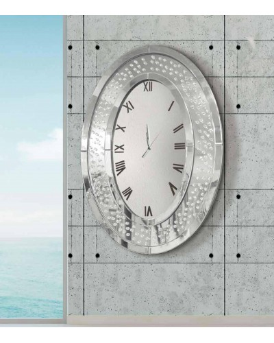 Reloj espejo pared ovalado diseño 1362-2636