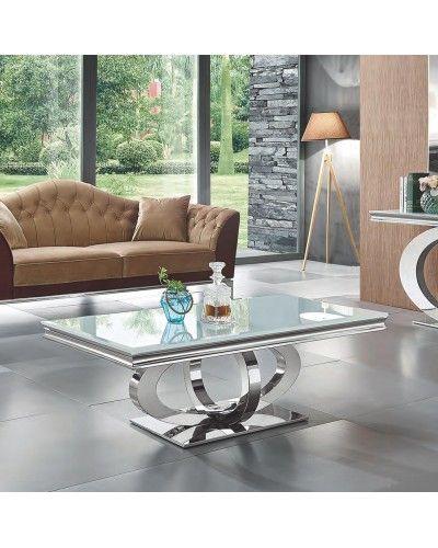 Mesa centro metálica moderna diseño 1362-955