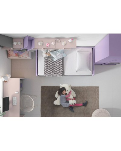 Dormitorio juvenil infantil moderno 224-101