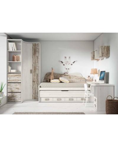 Dormitorio juvenil infantil moderno 224-102