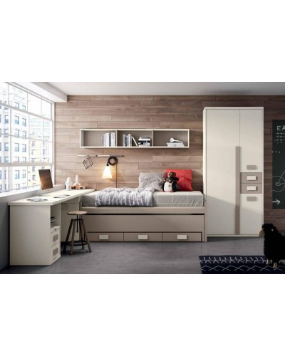 Dormitorio juvenil infantil moderno 224-103