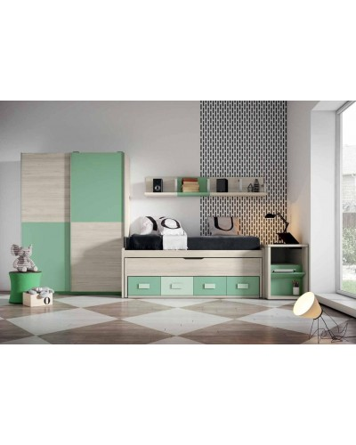 Dormitorio juvenil infantil moderno 224-106