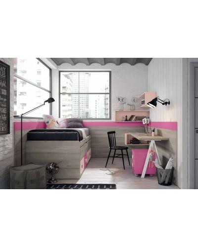 Dormitorio juvenil infantil moderno 224-109
