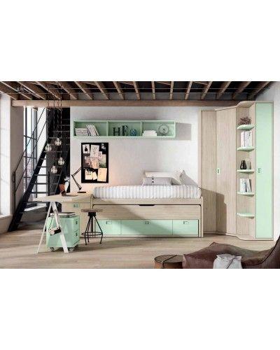 Dormitorio juvenil infantil moderno 224-110