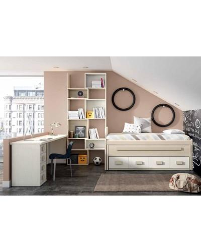 Dormitorio juvenil infantil moderno 224-111