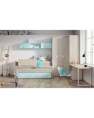 Dormitorio juvenil infantil moderno 224-112
