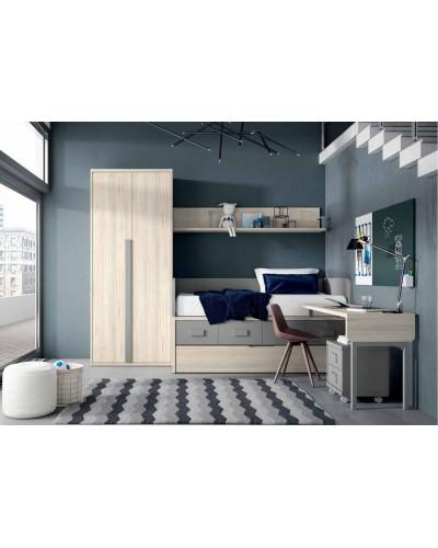 Dormitorio juvenil infantil moderno 224-113