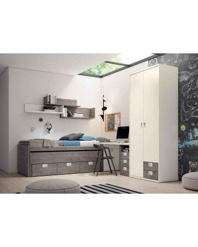 Dormitorio juvenil infantil moderno 224-115