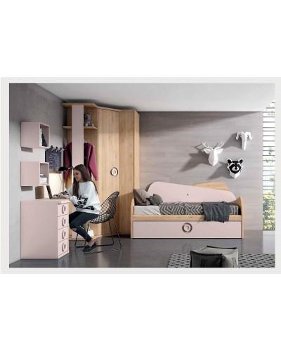 Dormitorio juvenil infantil moderno 224-201
