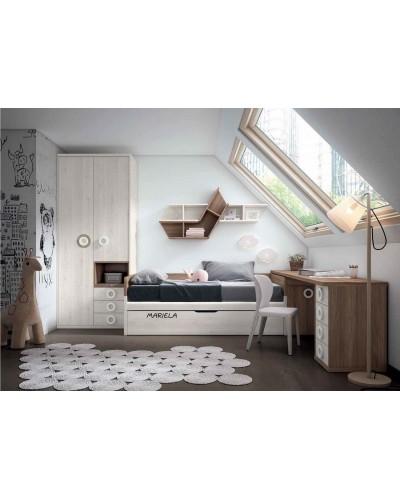 Dormitorio juvenil infantil moderno 224-202