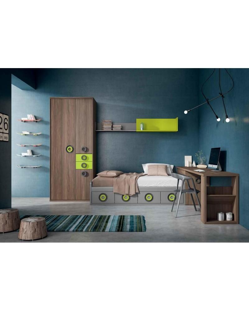 Dormitorio juvenil infantil moderno 224-203