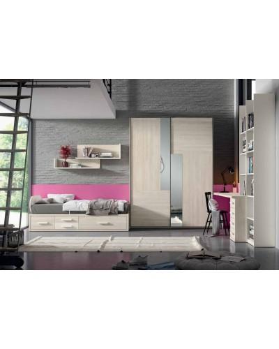 Dormitorio juvenil infantil moderno 224-204