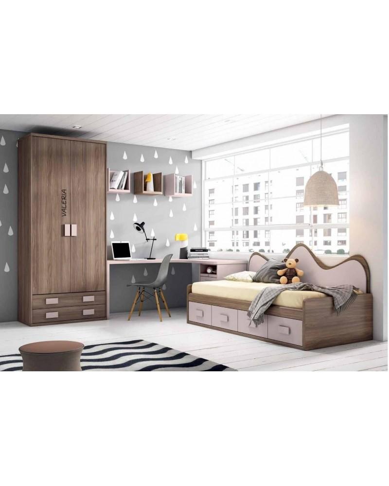 Dormitorio juvenil infantil moderno 224-205
