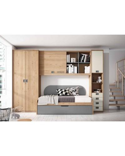 Dormitorio juvenil infantil moderno 224-206