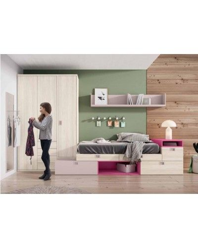 Dormitorio juvenil infantil moderno 224-301