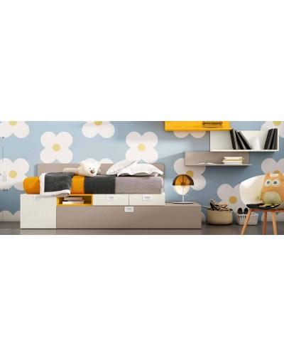 Dormitorio juvenil infantil moderno 224-303