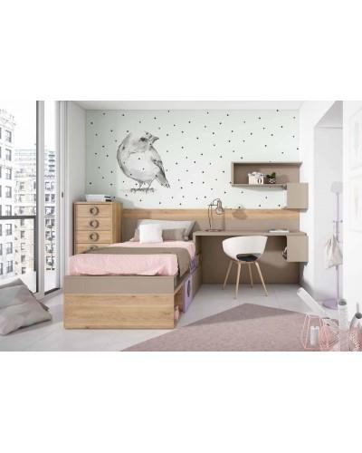Dormitorio juvenil infantil moderno 224-305