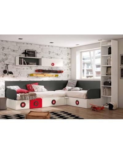 Dormitorio juvenil infantil moderno 224-308