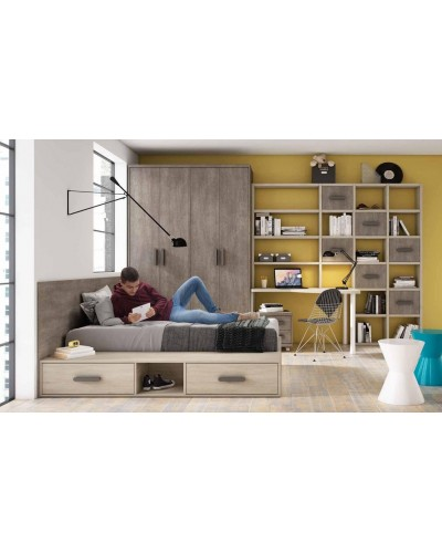 Dormitorio juvenil infantil moderno 224-317