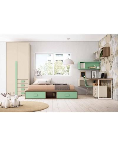 Dormitorio juvenil infantil moderno 224-318
