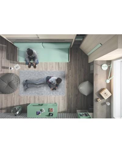 Cama abatible dormitorio juvenil infantil 224-401