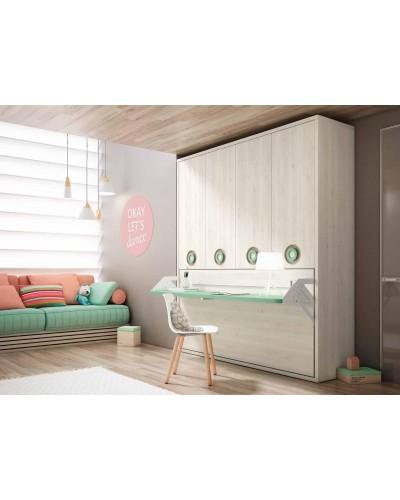 Cama abatible dormitorio juvenil infantil 224-403