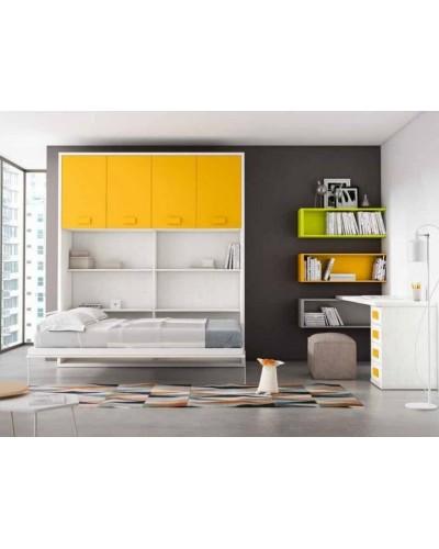 Cama abatible dormitorio juvenil infantil 224-405