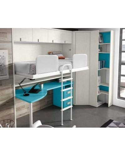 Cama abatible dormitorio juvenil infantil 224-407
