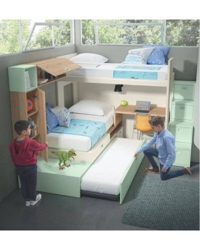 Literas tren dormitorio juvenil infantil 224-501