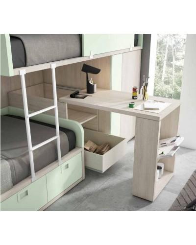 Literas tren dormitorio juvenil infantil 224-504