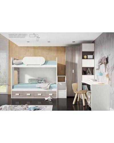 Literas tren dormitorio juvenil infantil 224-506