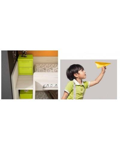 Literas tren dormitorio juvenil infantil 224-508