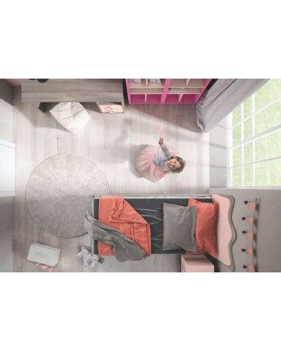 Cama dormitorio juvenil infantil 224-601