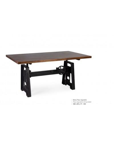 Mesa comedor regulable industrial vintage 99-710101