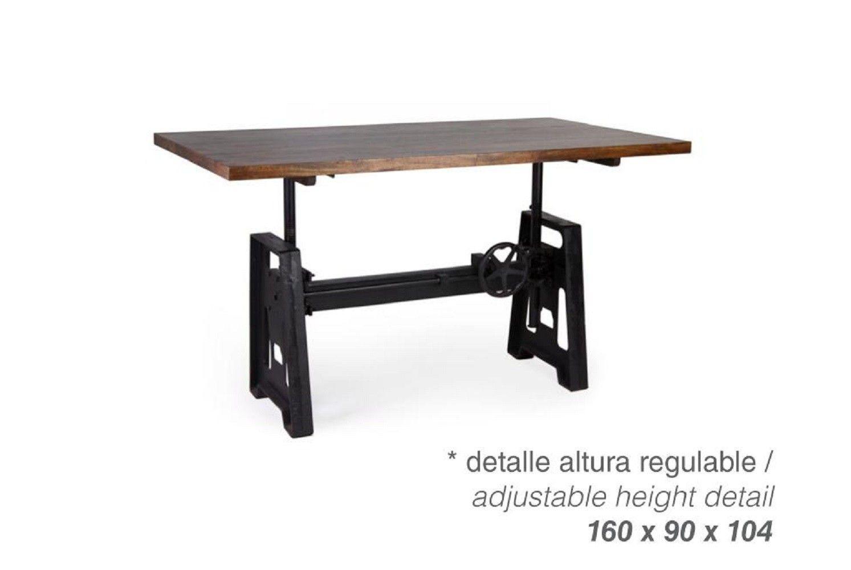 Mesa comedor regulable industrial vintage 99-701101| Mobles ...