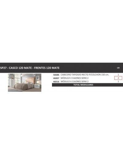 Dormitorio matrimonio moderno lacado diseño 397-SP27