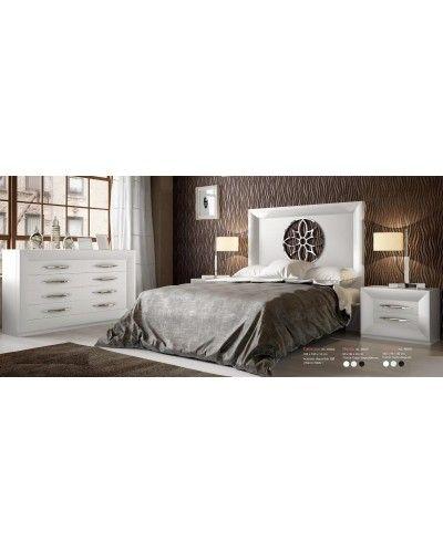 Dormitorio matrimonio moderno lacado diseño 397-SP28