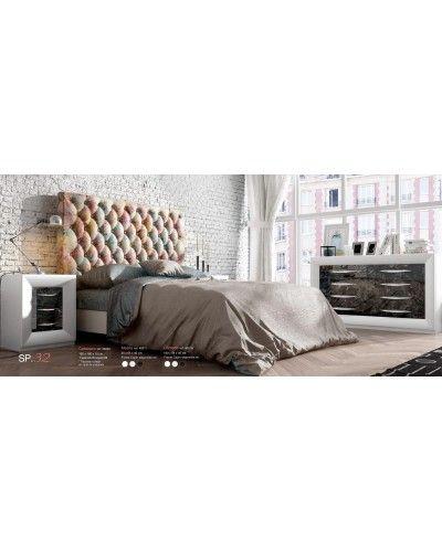 Dormitorio matrimonio moderno lacado diseño 397-SP32