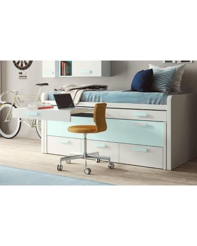 Compacto dormitorio juvenil infantil  moderno 1194-M02