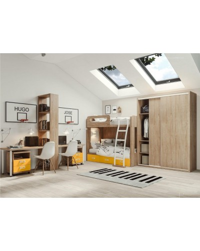 Litera dormitorio juvenil infantil  moderno 1194-M03