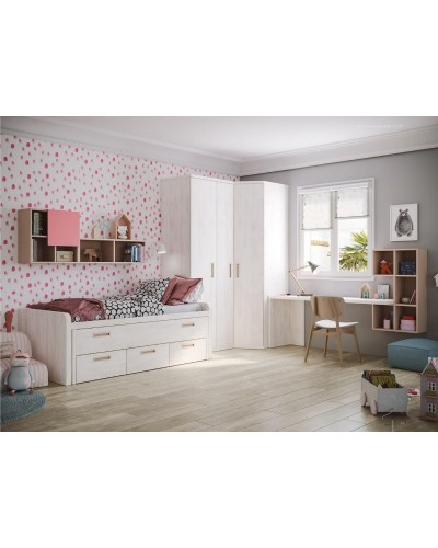 Compacto dormitorio juvenil infantil  moderno 1194-M05