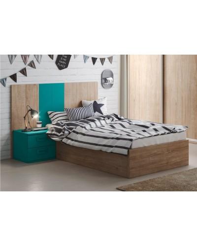 Cama nido dormitorio juvenil infantil  moderno 1194-M07