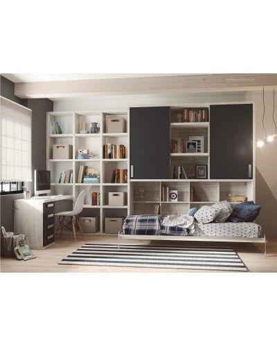 Cama abatible dormitorio Juvenil infantil moderno 1194-M09
