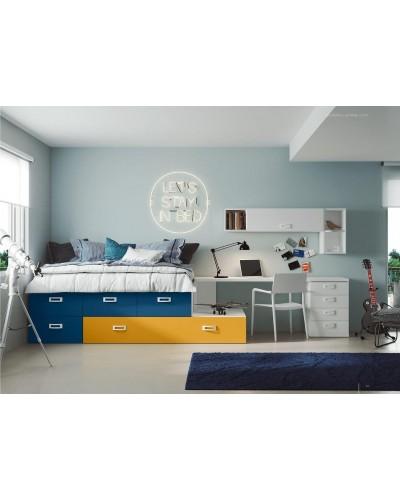 Compacto dormitorio juvenil infantil  moderno 1194-M10