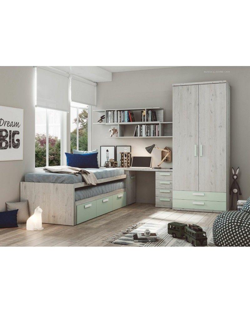 Compacto dormitorio juvenil infantil  moderno 1194-M11