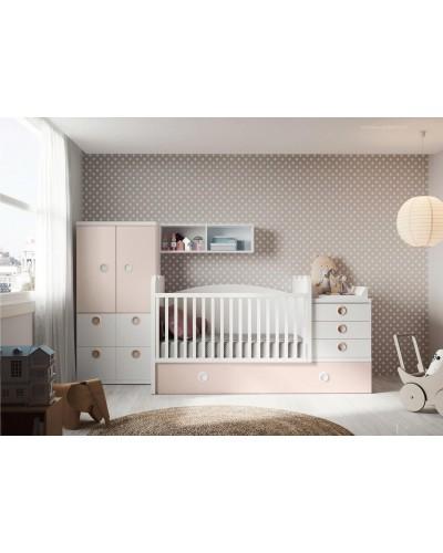 Cuna convertible dormitorio juvenil infantil  moderno 1194-M15