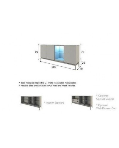 Aparador moderno diseño lacado alta calidad 397-AZ29